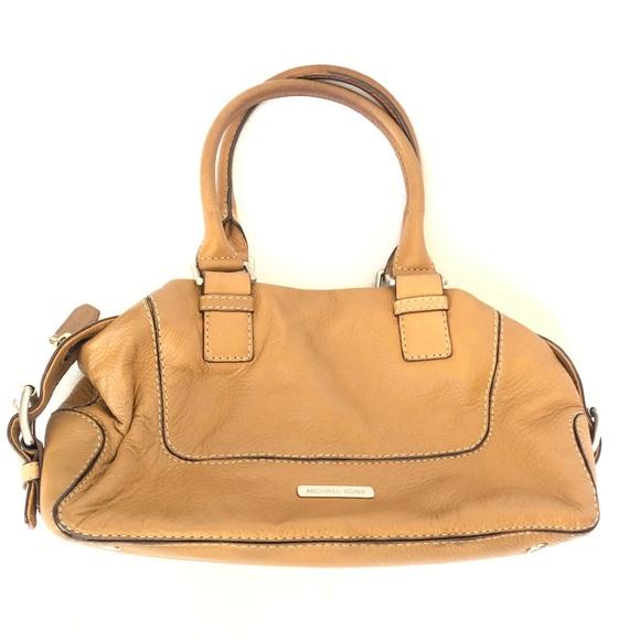 Michael Kors Handbags - Michael Kors Cream Tan Leather Satchel Handbag